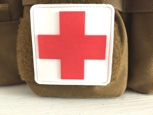Rubber Patch Rotes Kreuz | tactical medic Patch